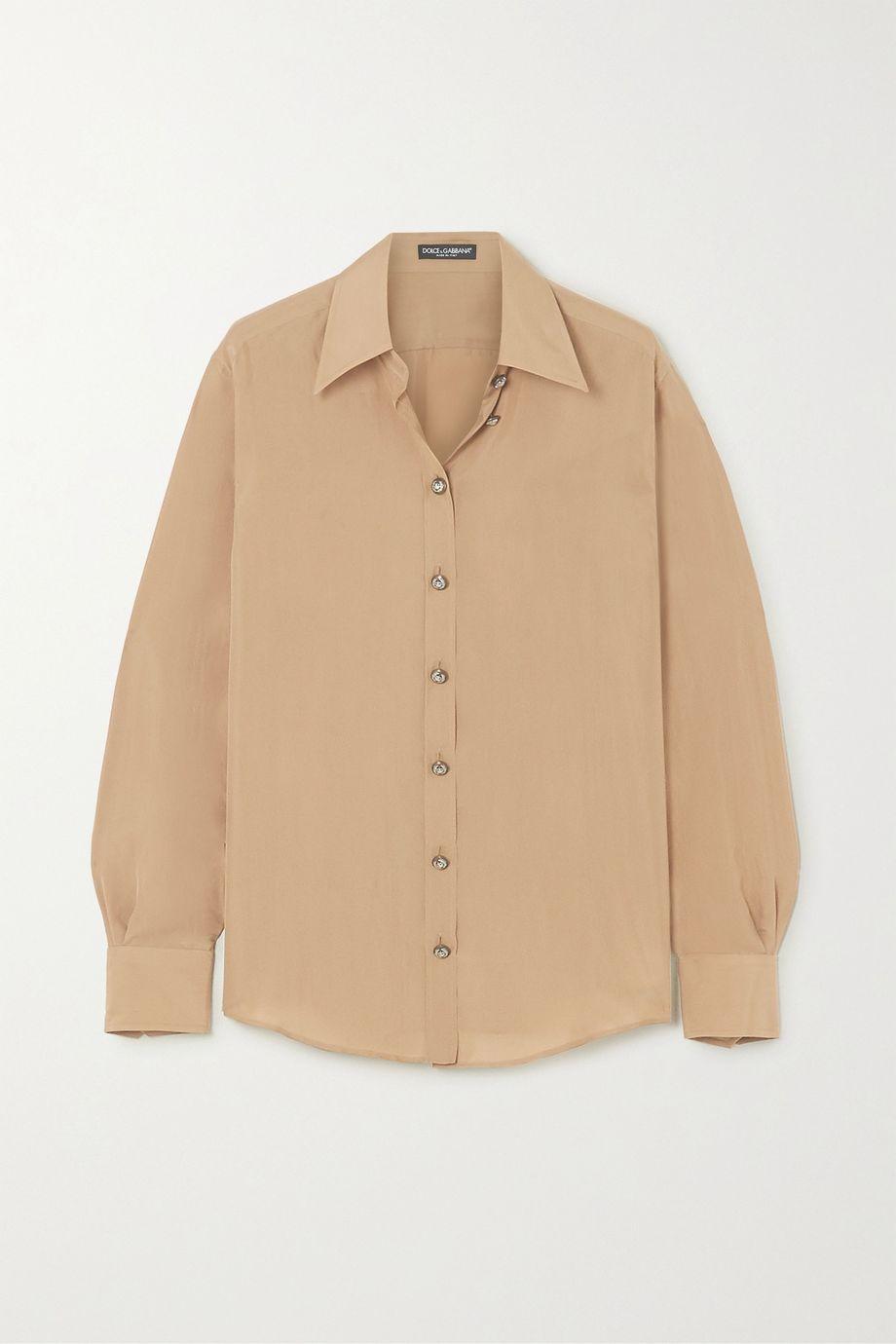 Dolce & Gabbana Washed-silk blouse