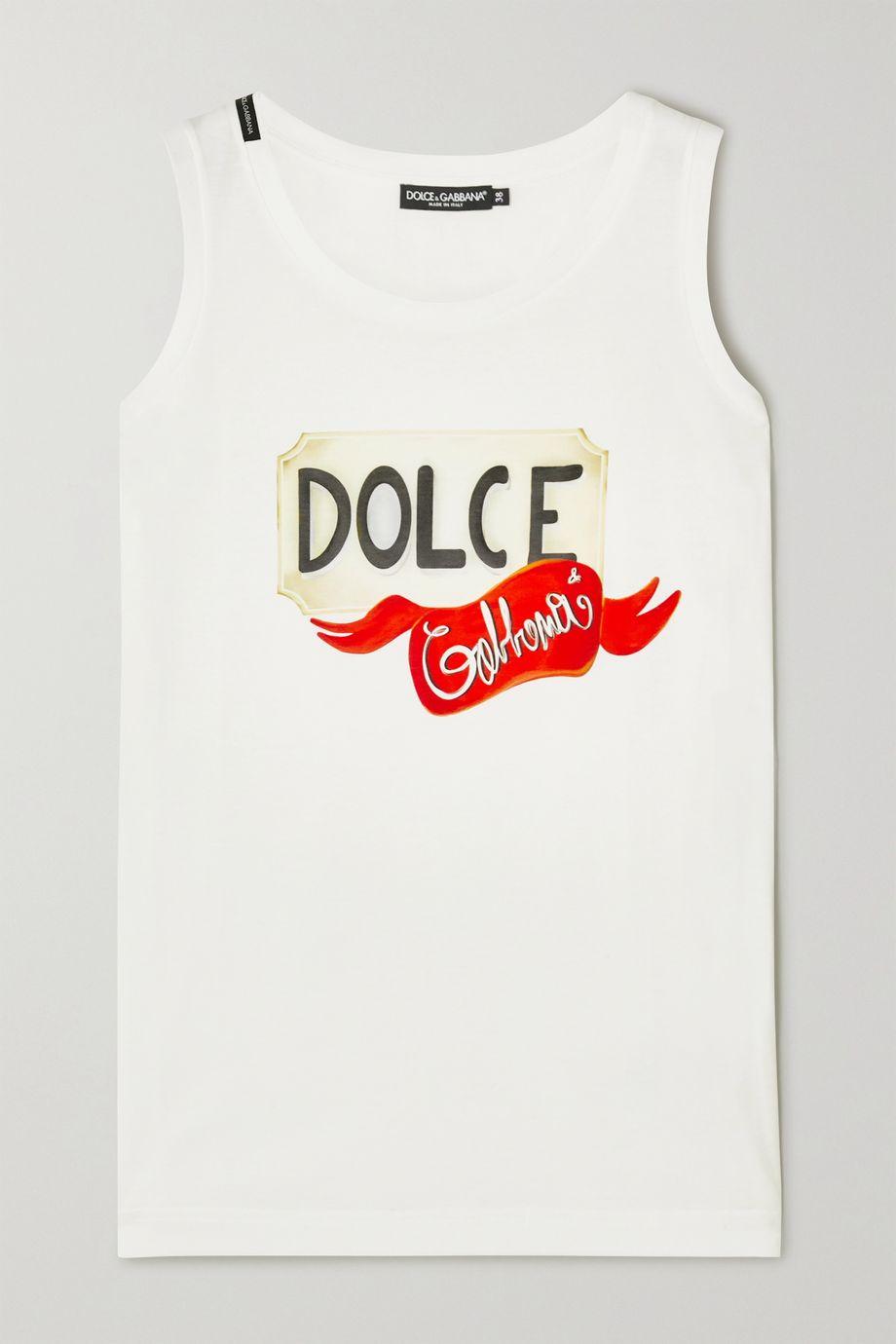 Dolce & Gabbana Printed cotton-jersey tank