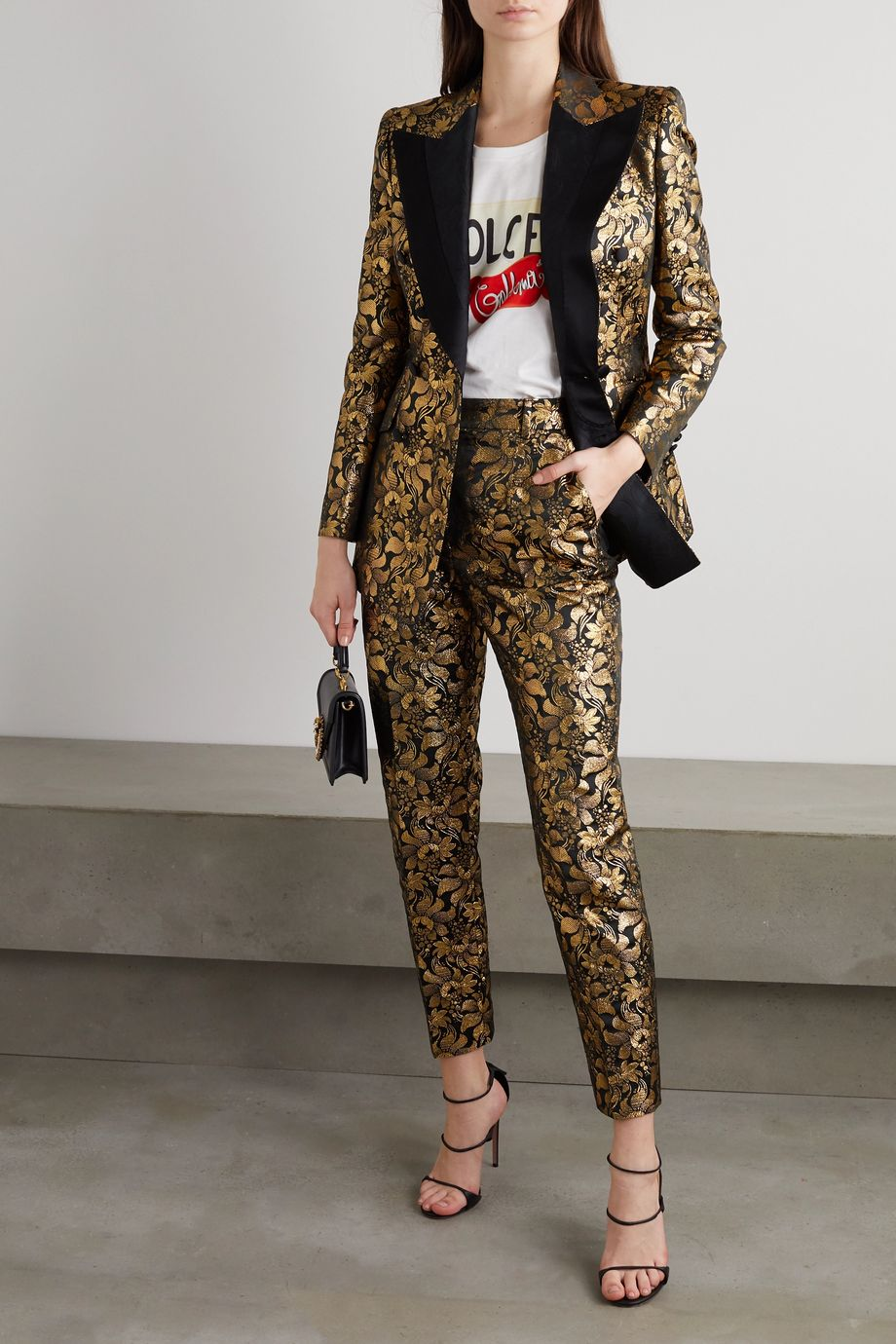 Dolce & Gabbana Débardeur en jersey de coton imprimé