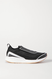 adidas by Stella McCartney Boston metallic-trimmed Primeknit sneakers