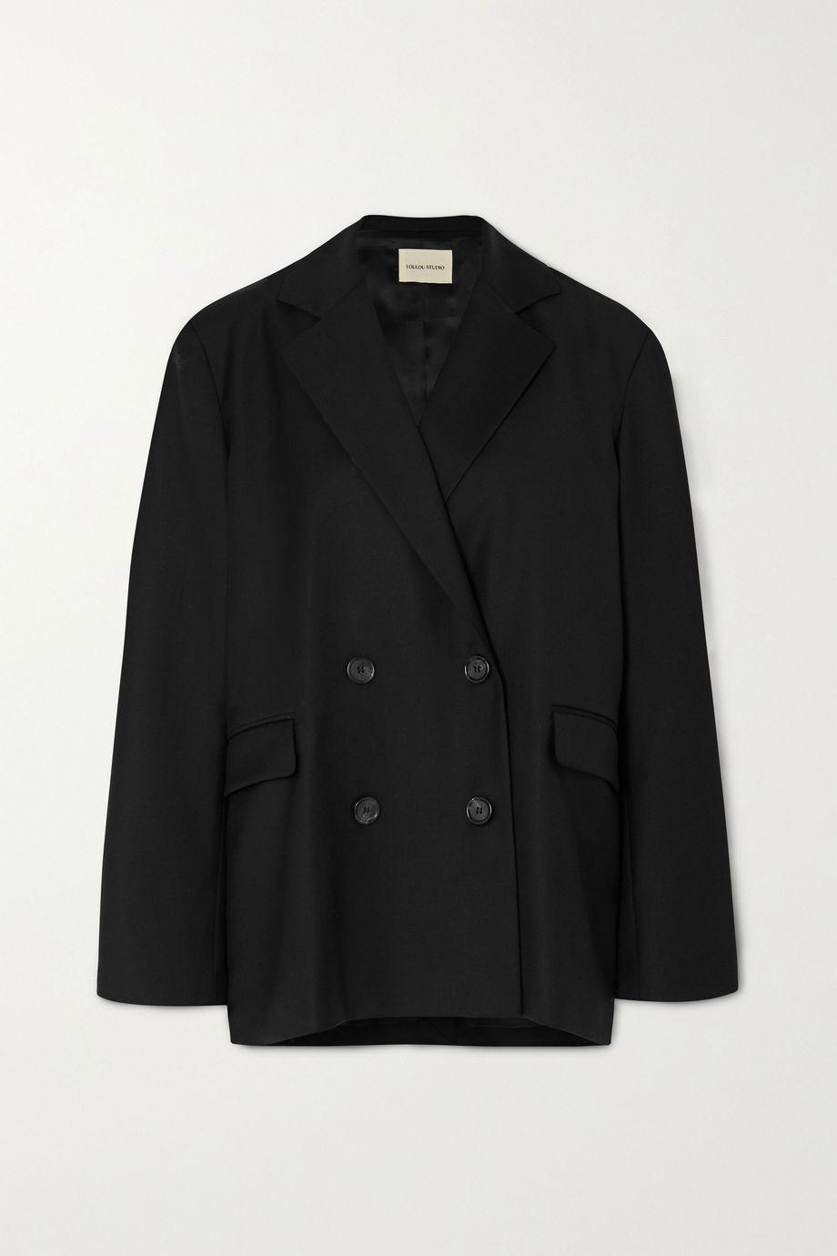 LOULOU STUDIO Tatakoto double-breasted wool-twill blazer