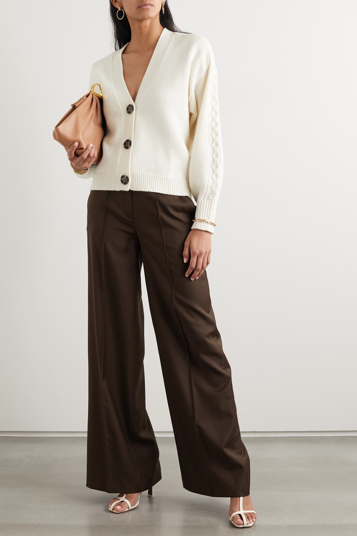 LOULOU STUDIO Wool-twill wide-leg pants