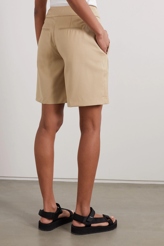 LOULOU STUDIO Bermuda pleated wool-twill shorts