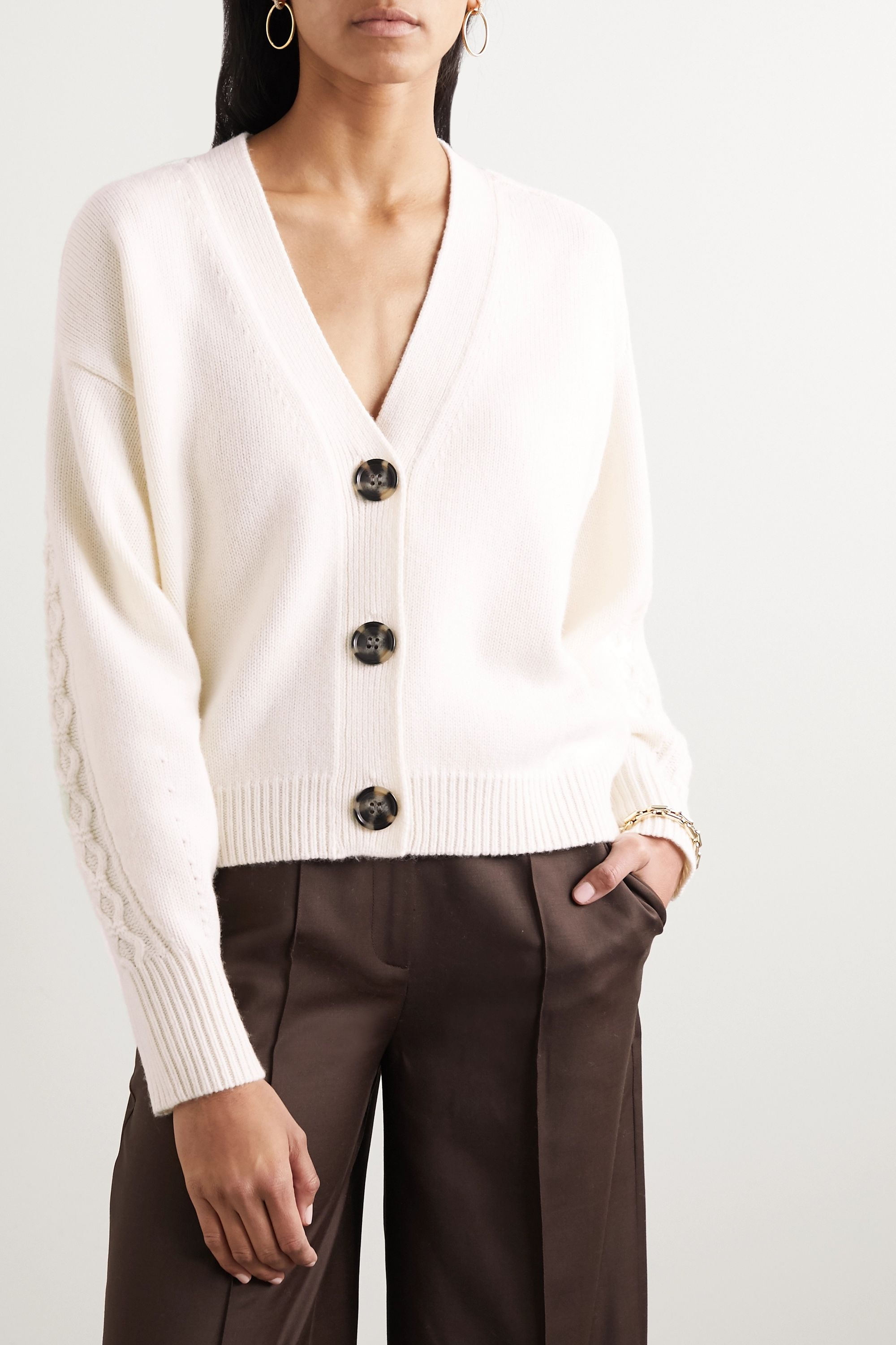 LOULOU STUDIO Tahaa wool and cashmere-blend cardigan