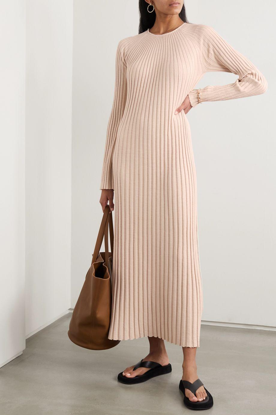 LOULOU STUDIO Uturoa ribbed silk and cotton-blend maxi dress