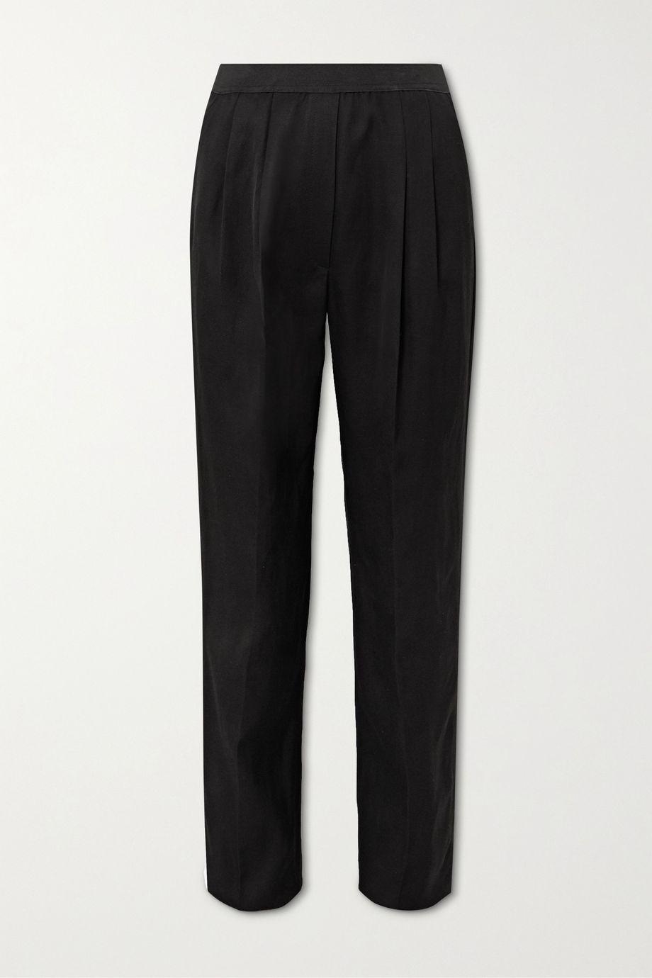 LOULOU STUDIO Takaroa pleated twill straight-leg pants