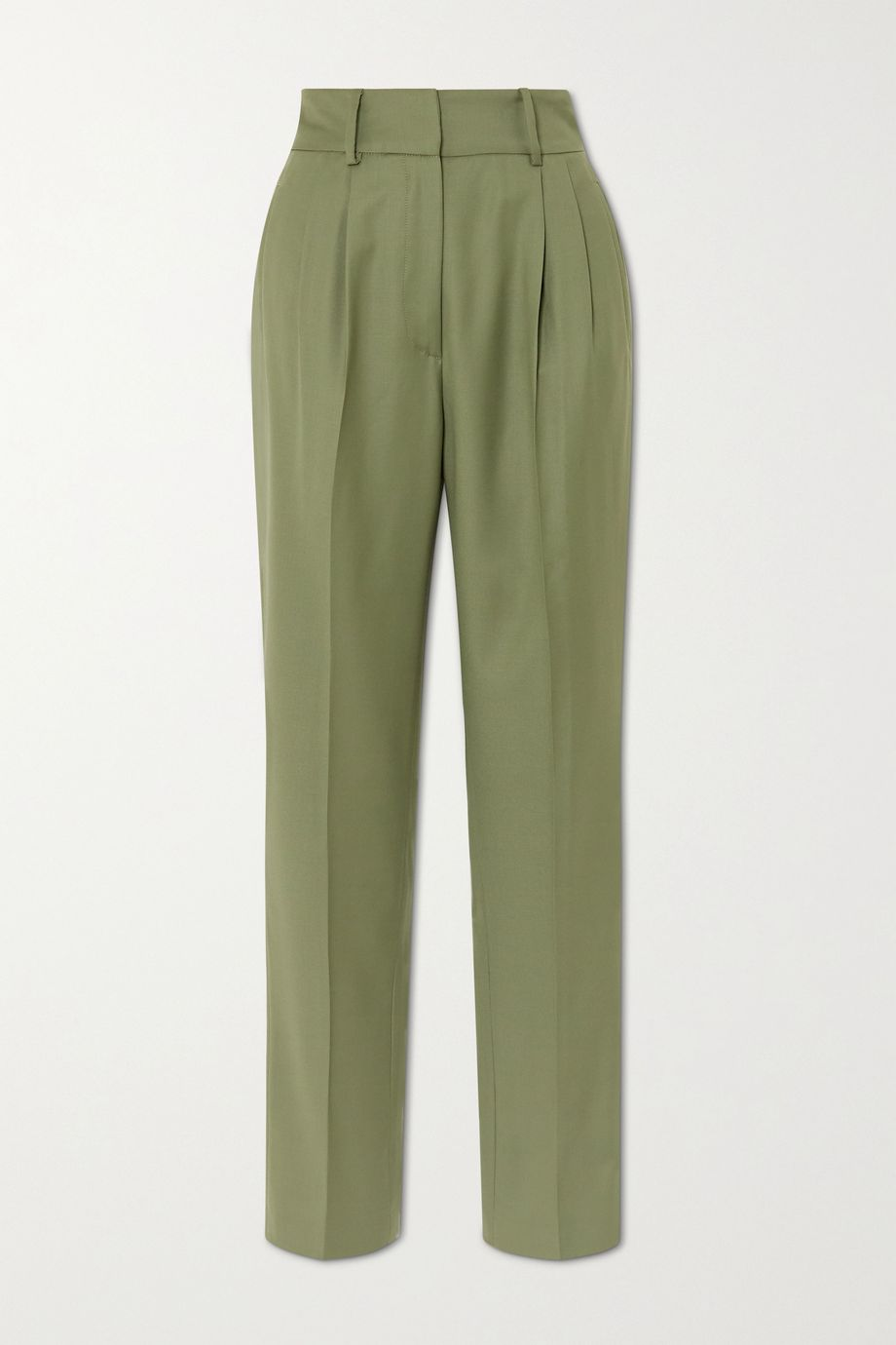 LOULOU STUDIO Rurutu pleated wool slim-fit pants