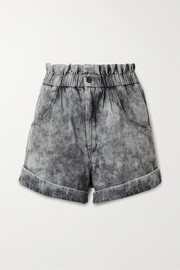 Isabel Marant Étoile Itea acid-wash denim shorts
