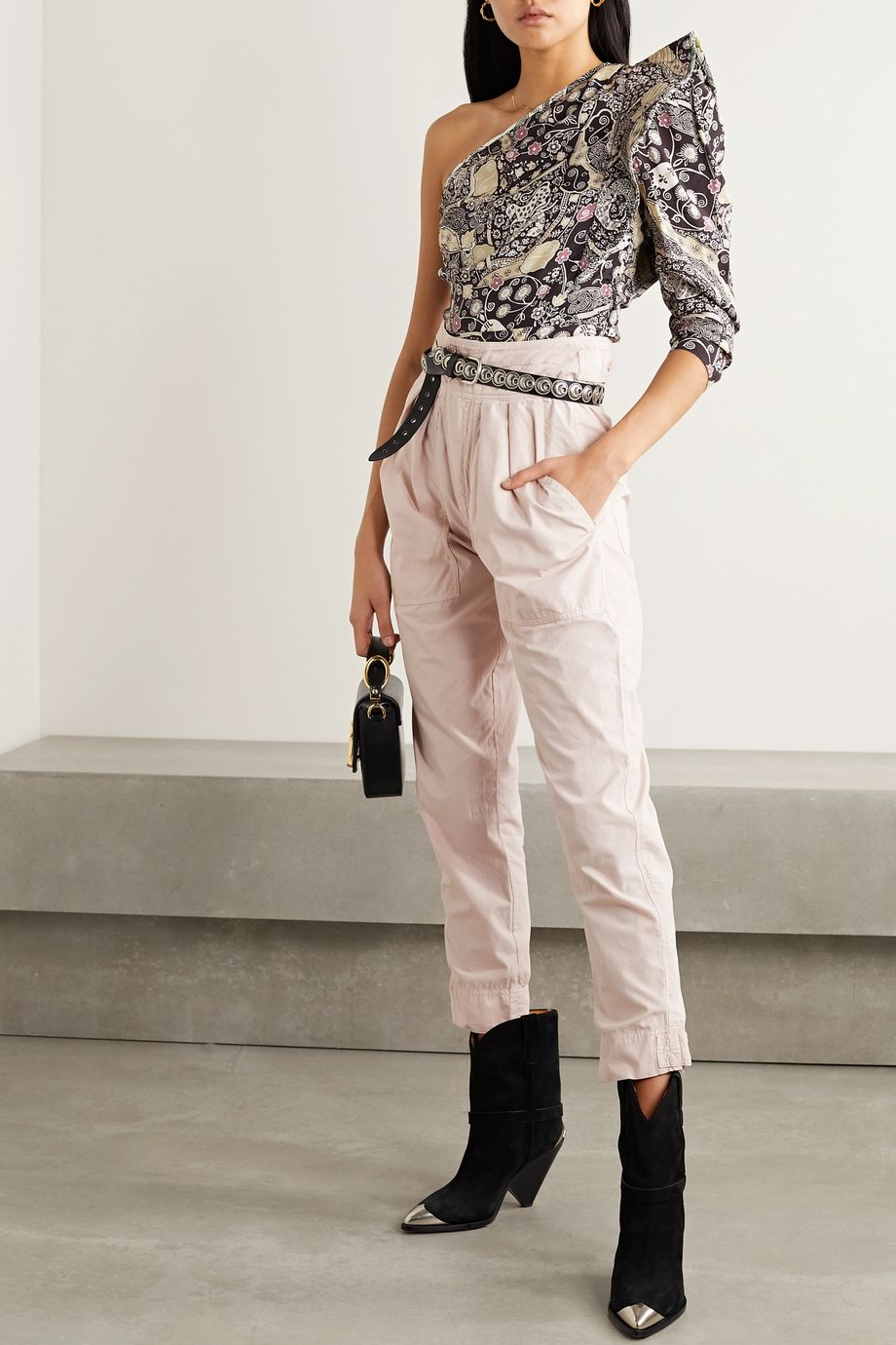 Isabel Marant Étoile Mariz pleated cotton tapered pants