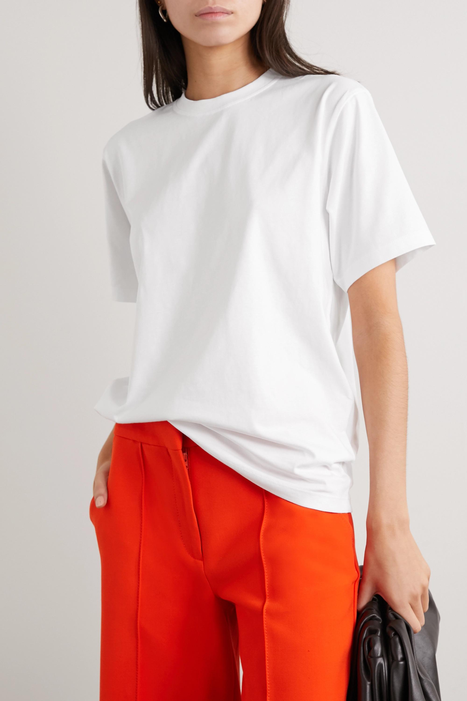 Victoria, Victoria Beckham T-shirt en jersey de coton Victoria