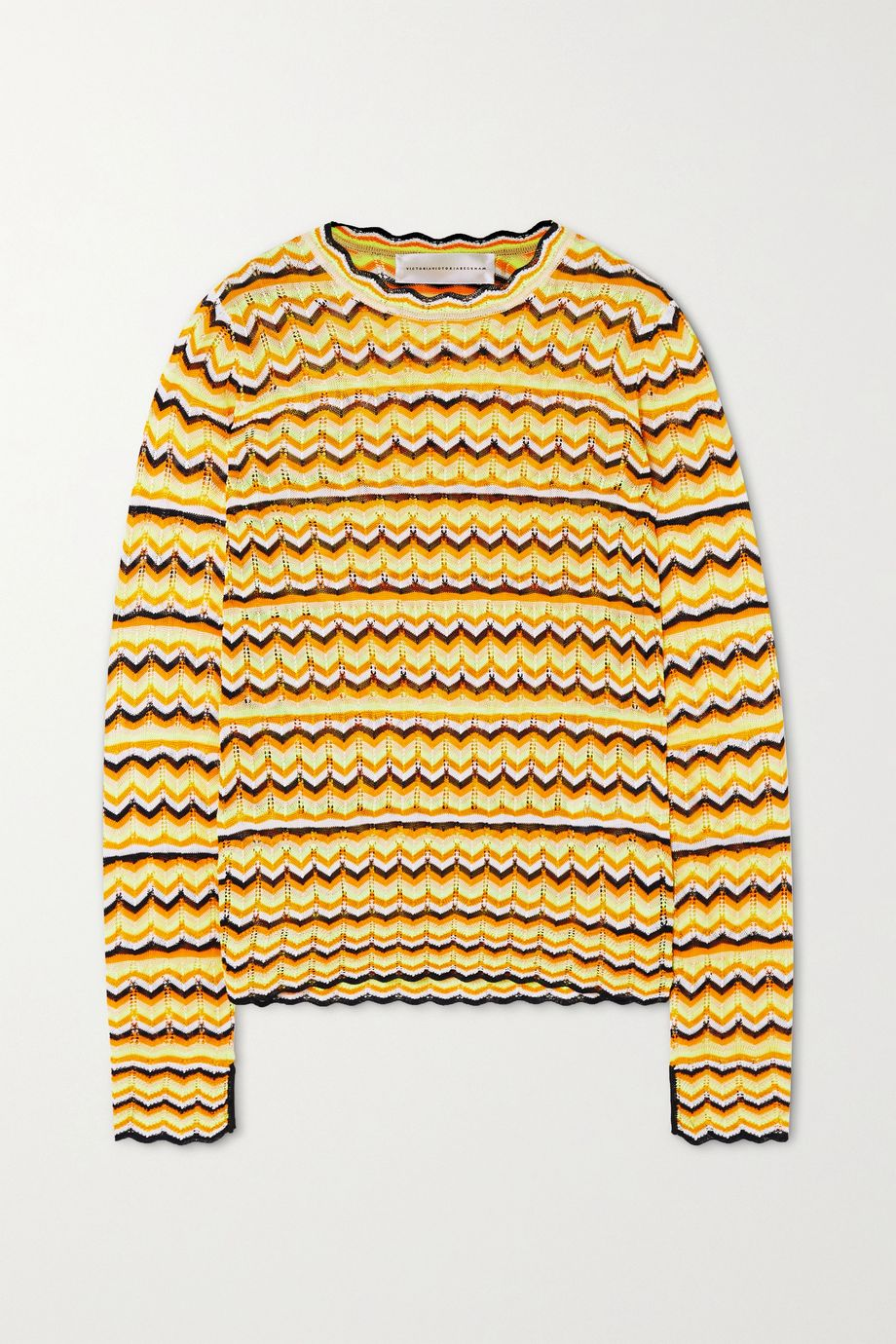Victoria, Victoria Beckham Open-knit sweater