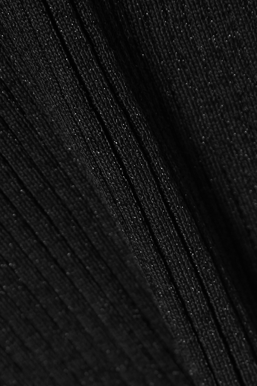 Victoria, Victoria Beckham Glittered ribbed-knit turtleneck sweater