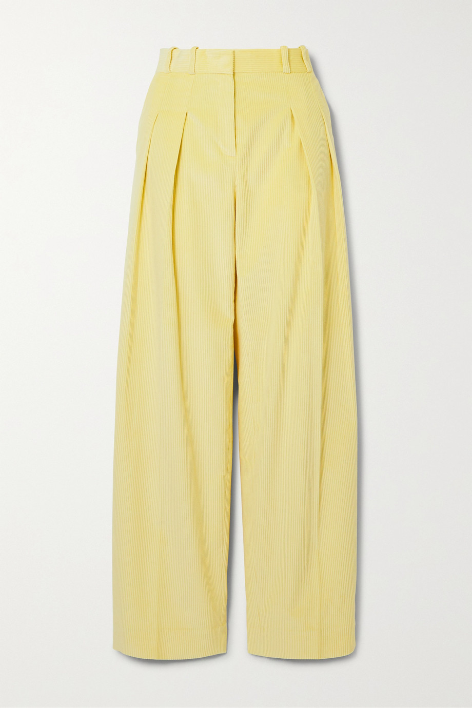 Victoria, Victoria Beckham Pleated cotton-corduroy wide-leg pants