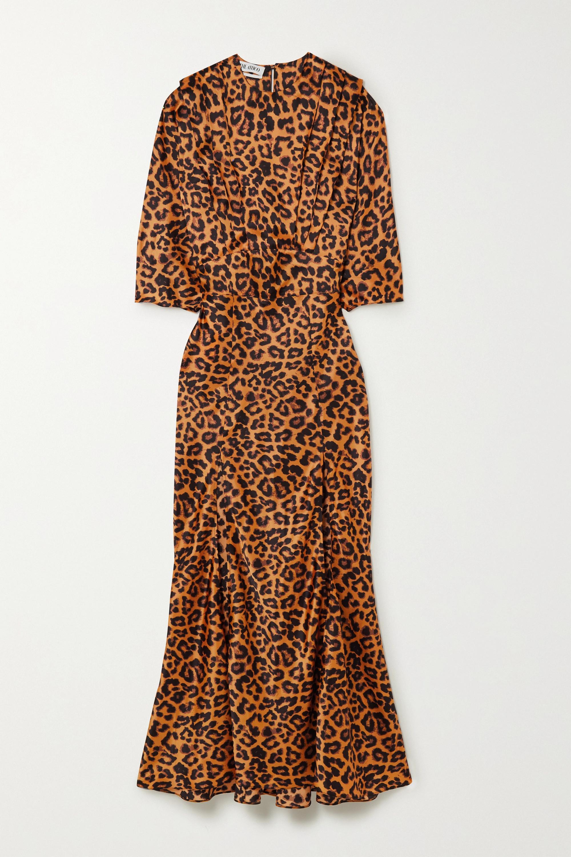 The Attico Leopard-print satin midi dress