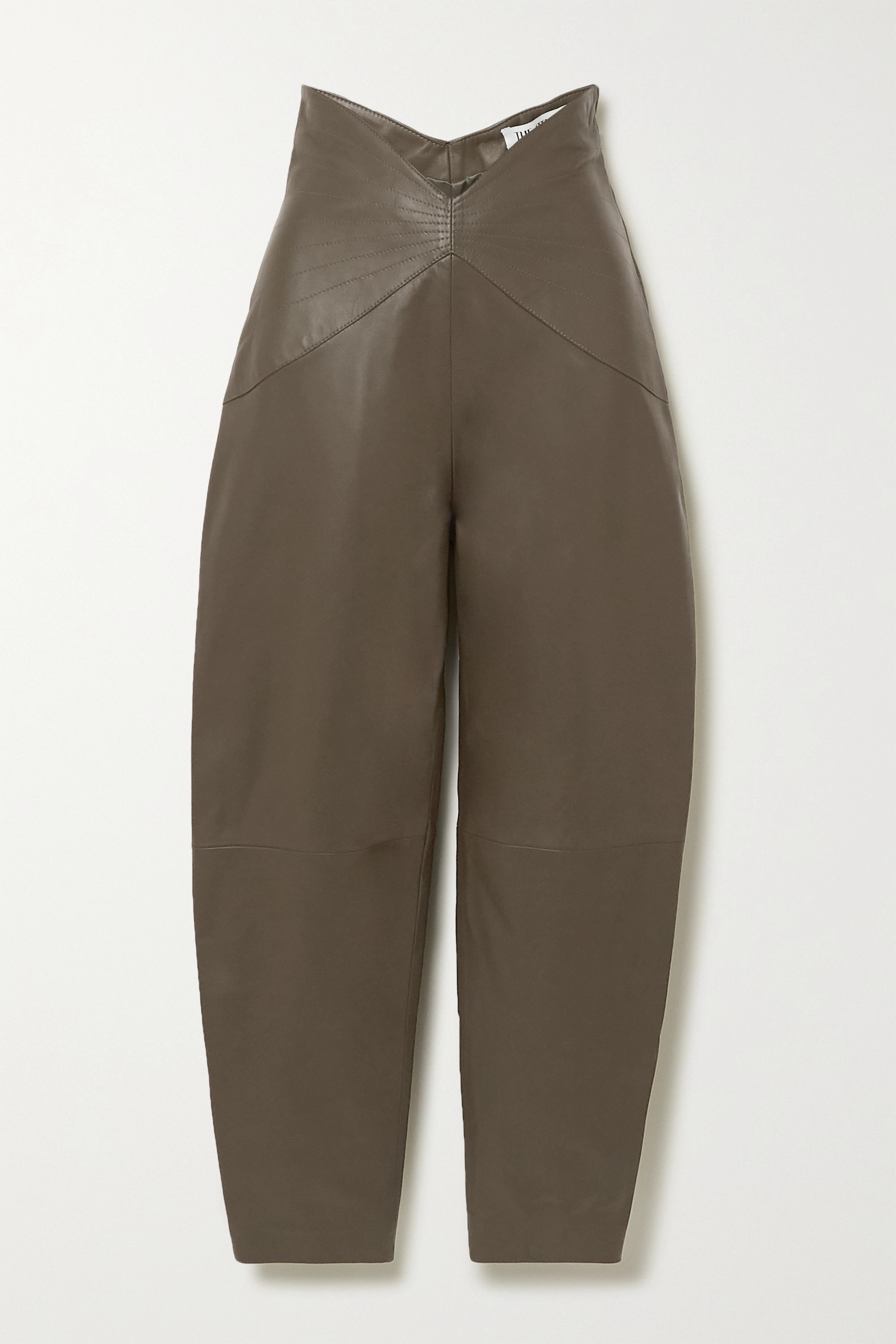 The Attico Leather tapered pants