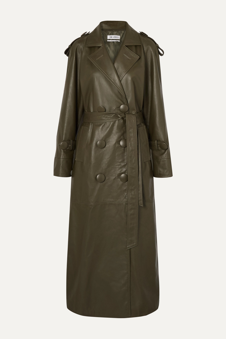 The Attico Belted leather trench coat