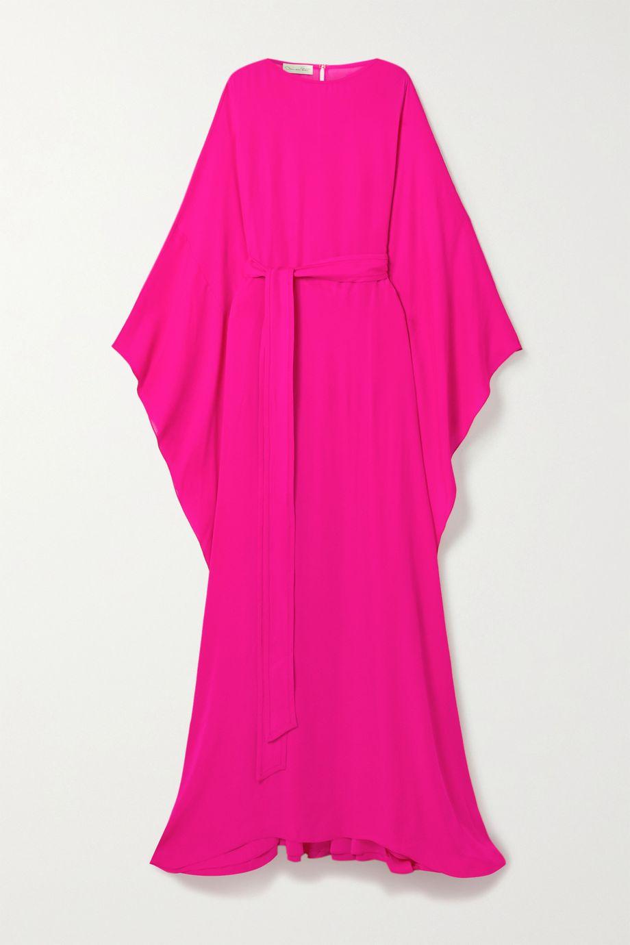 Oscar de la Renta Neon silk-crepe gown