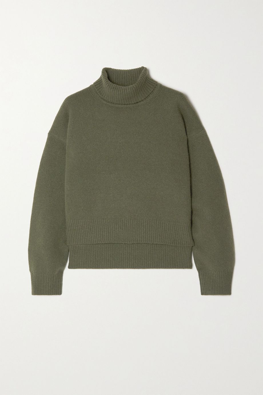 REJINA PYO + NET SUSTAIN Lyn asymmetric cashmere turtleneck sweater