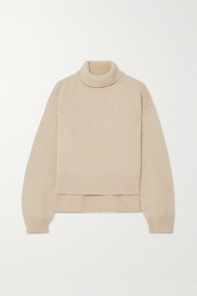 Asymmetric Turtle Neck Knit