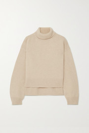+ NET SUSTAIN Lyn asymmetric cashmere turtleneck sweater
