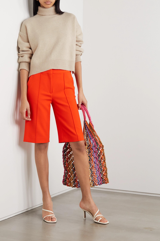 REJINA PYO + NET SUSTAIN Lyn asymmetric cashmere turtleneck sweater