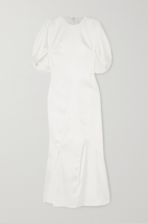 REJINA PYO Lucinda paneled crinkled-satin midi dress