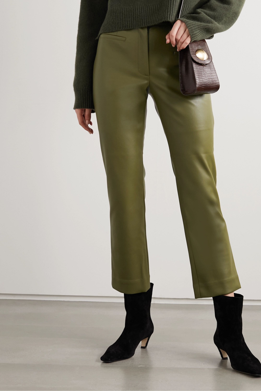 REJINA PYO + NET SUSTAIN Finley cropped faux leather slim-fit pants
