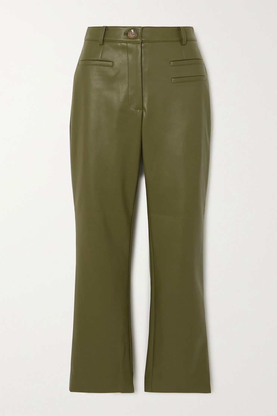 REJINA PYO + NET SUSTAIN Finley cropped faux leather slim-fit pants