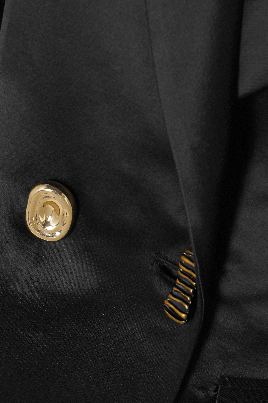 REJINA PYO Una double-breasted cotton and silk-blend blazer