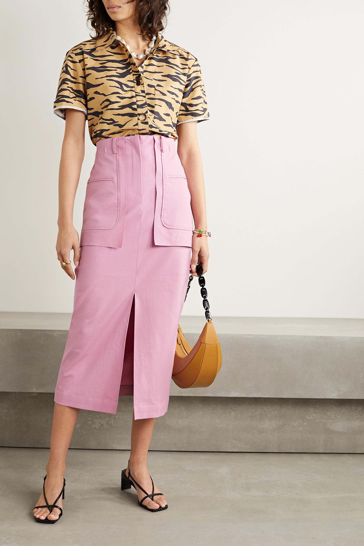 REJINA PYO Ellie cotton-blend midi skirt