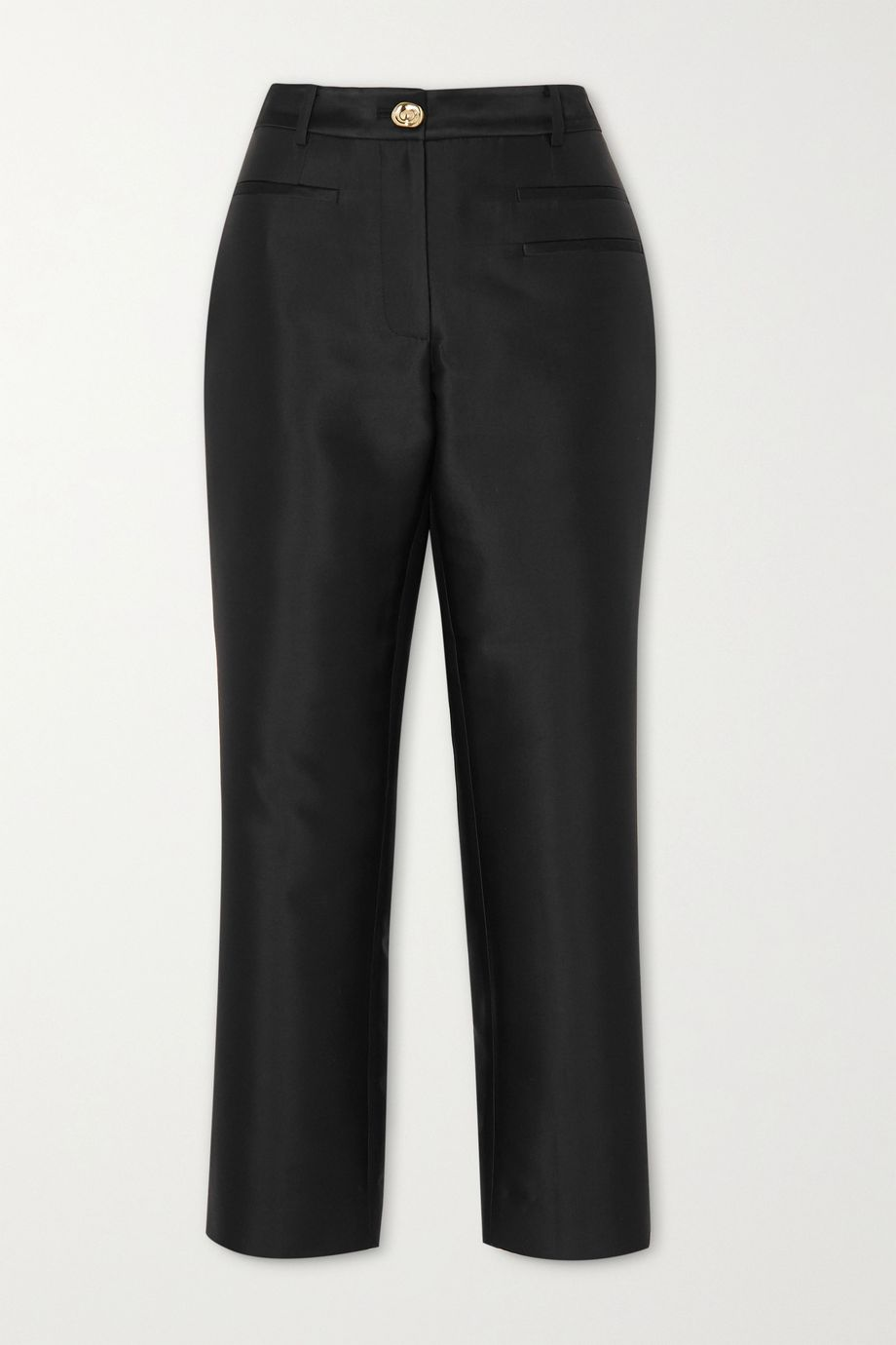 REJINA PYO Finley cropped cotton and silk-blend slim-fit pants