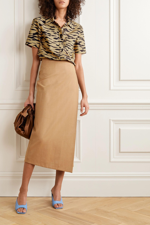 REJINA PYO Nico tiger-print cotton-poplin shirt