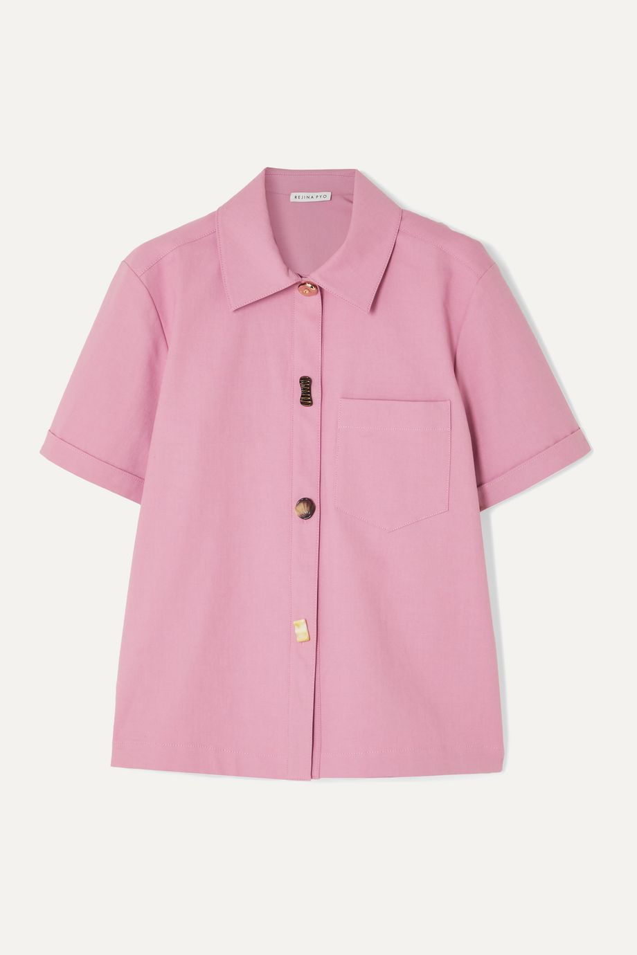 REJINA PYO Nico Hemd aus Twill aus einer Baumwollmischung mit Knöpfen