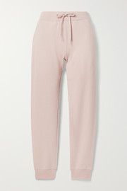 Pima cotton-terry track pants