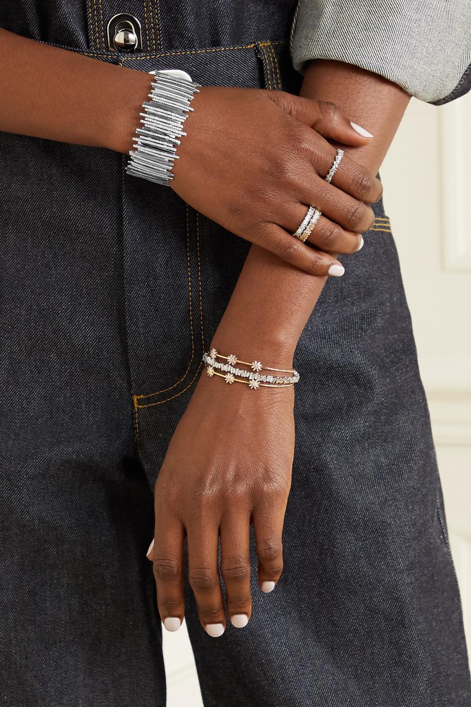 Suzanne Kalan Armspange aus 18 Karat Weißgold mit Diamanten