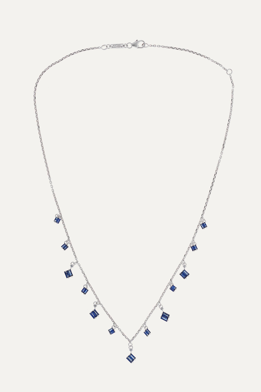 Suzanne Kalan 18-karat white gold, sapphire and diamond necklace