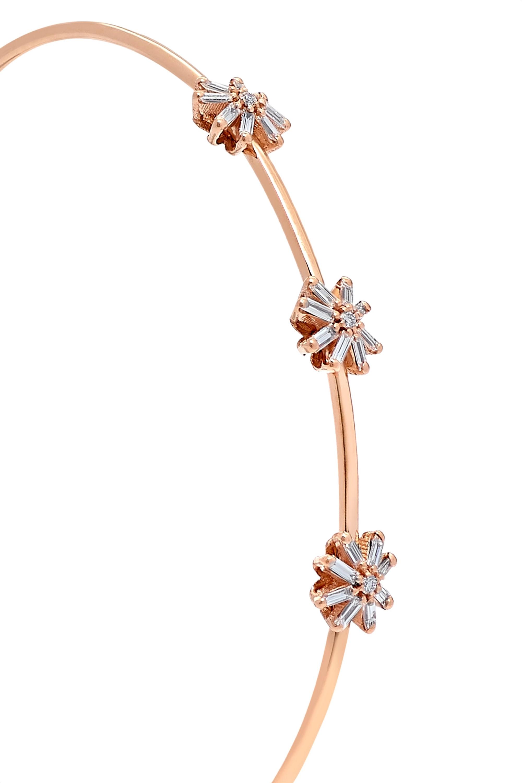 Suzanne Kalan Armspange aus 18 Karat Roségold mit Diamanten