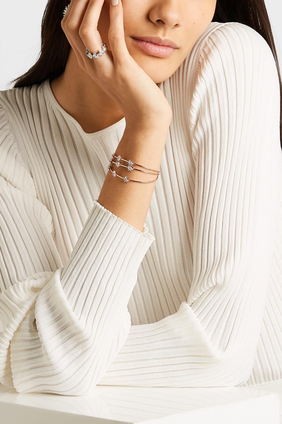 Suzanne Kalan 18-karat rose gold diamond cuff