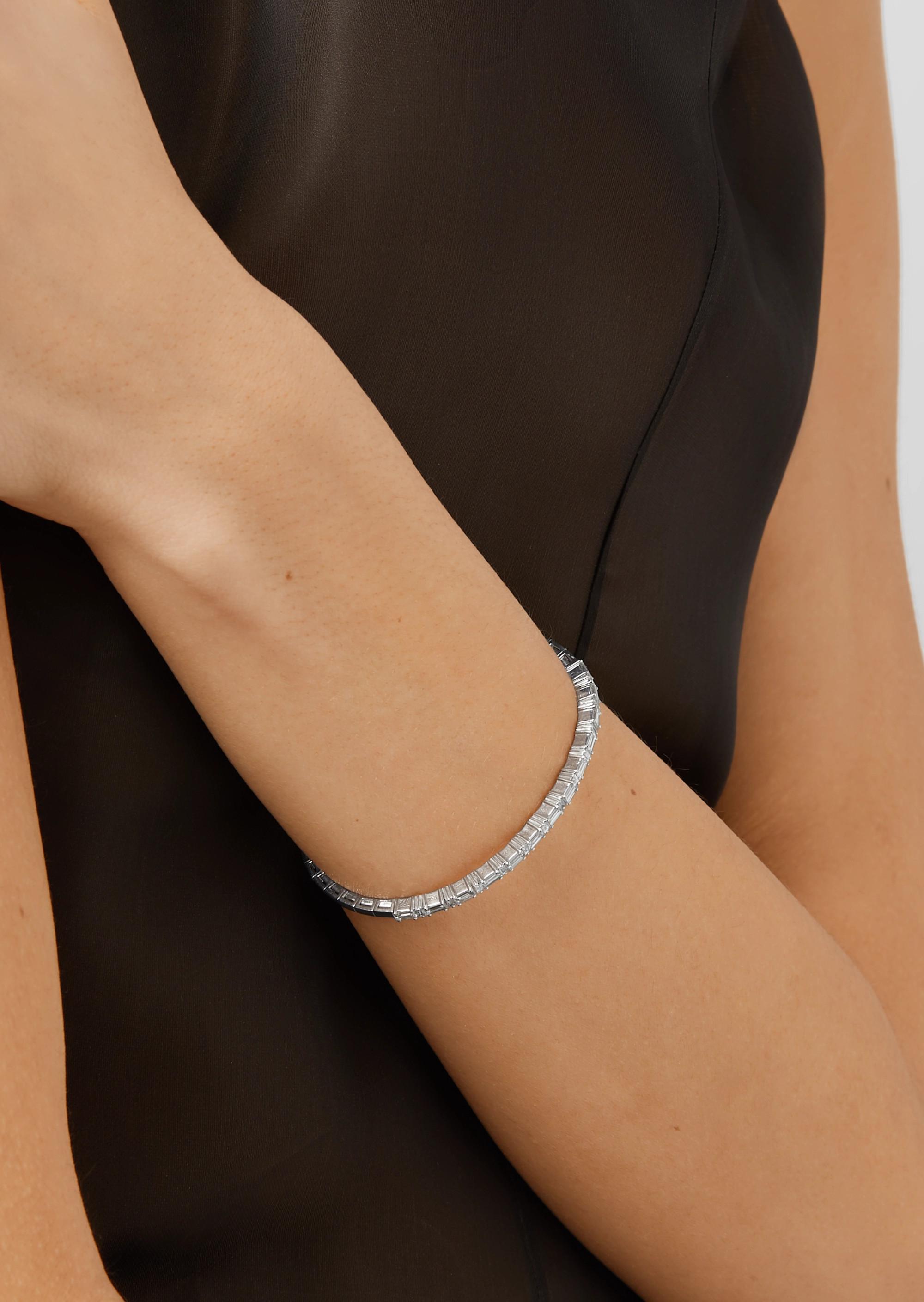 Suzanne Kalan Bracelet en or blanc 18 carats et diamants