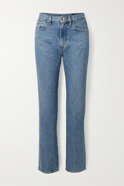 + NET SUSTAIN Nineties Classic high-rise straight-leg jeans