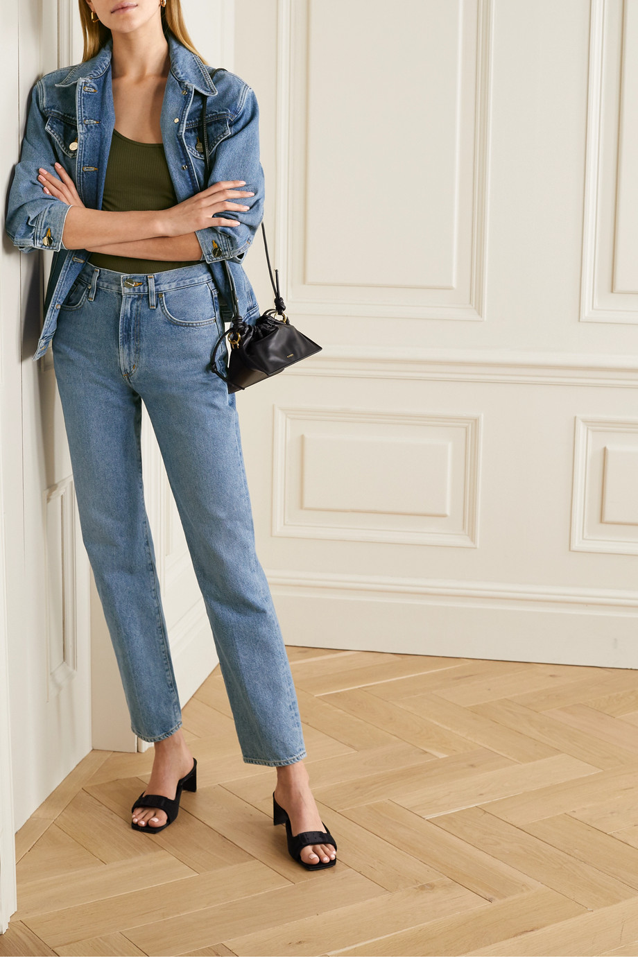 GOLDSIGN + NET SUSTAIN Nineties Classic high-rise straight-leg jeans