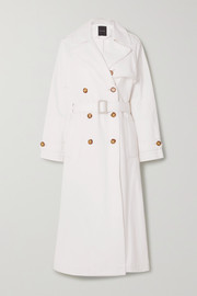 GOLDSIGN + NET SUSTAIN The Classic organic denim trench coat