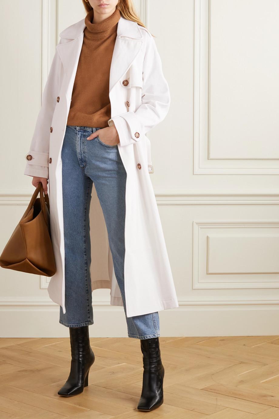 GOLDSIGN + NET SUSTAIN The Classic organic denim trench coat