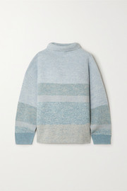 Kinsale striped cashmere turtleneck sweater