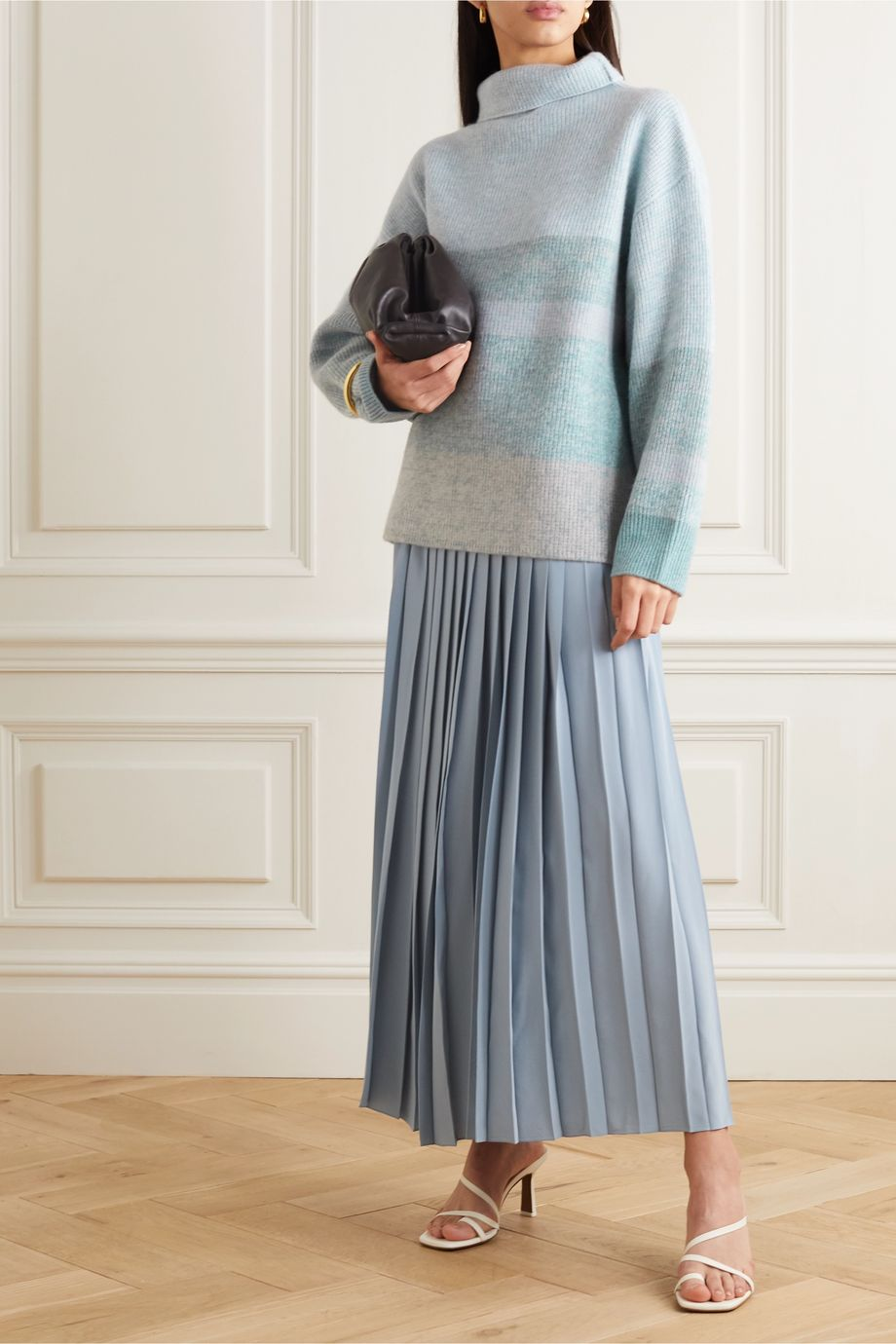 Le Kasha Kinsale striped cashmere turtleneck sweater