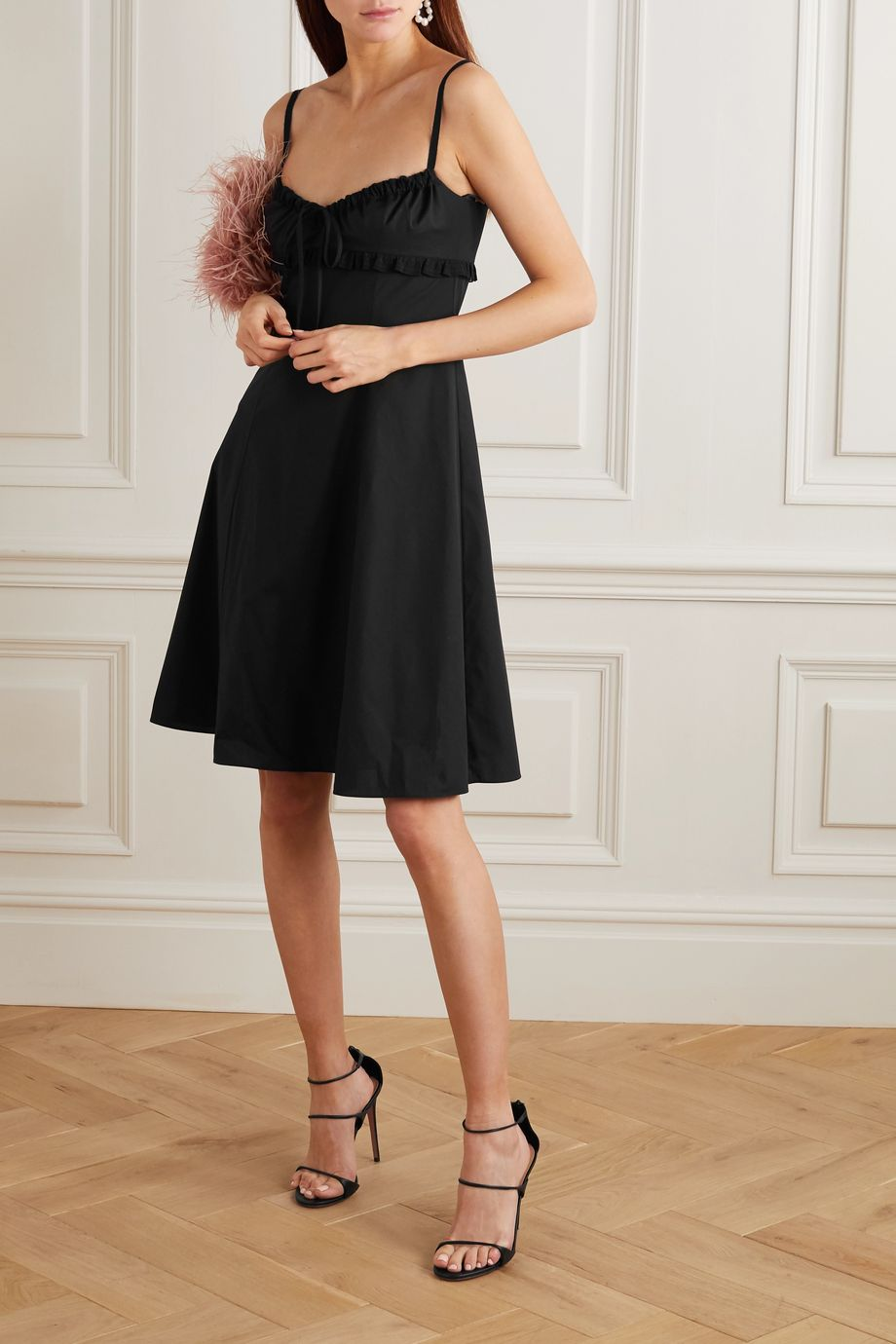 Brock Collection Lace-trimmed stretch-cotton dress