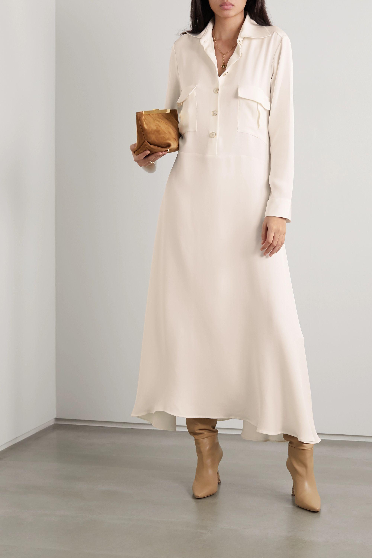 Giuliva Heritage The Aurora silk-jersey midi dress