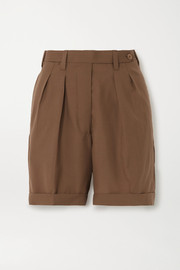 Giuliva Heritage The Husband grain de poudre wool shorts