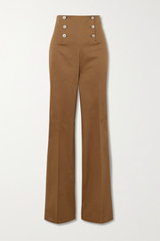 Giuliva Heritage The Sailor stretch-cotton straight-leg pants