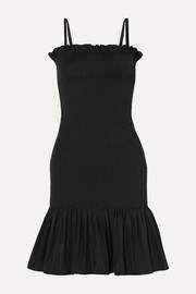 Molly Goddard Shirred taffeta mini dress